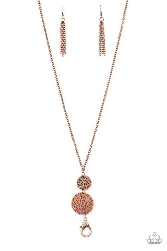Shoulder To Shoulder - Copper - Paparazzi Necklace Image
