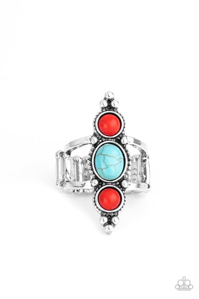 Sahara Sage - Red - Paparazzi Ring Image
