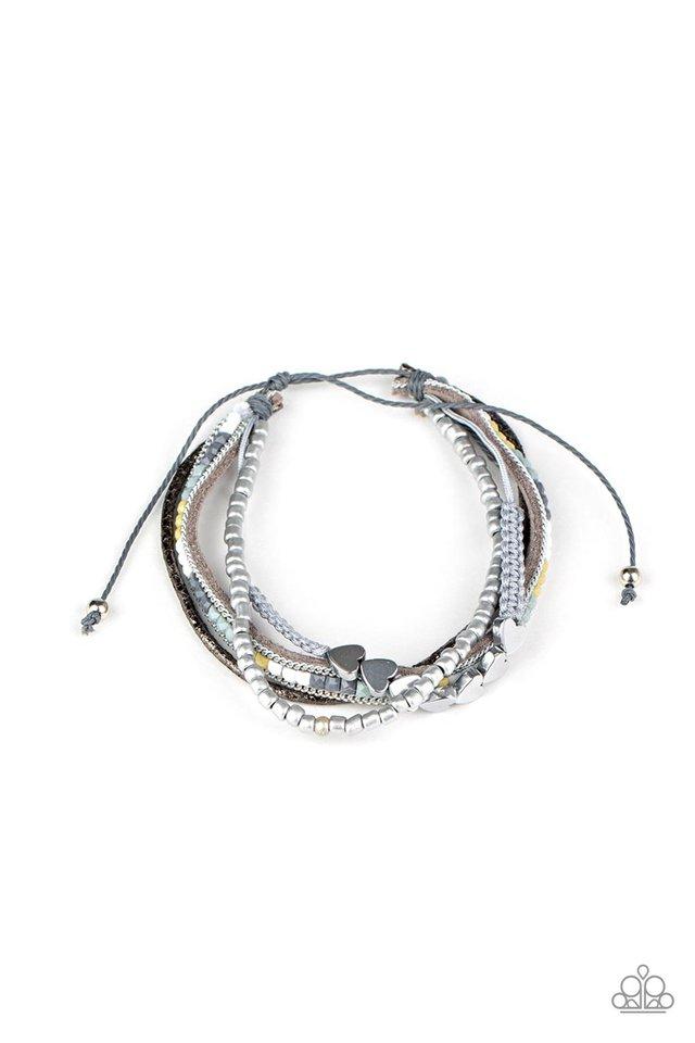 My HEARTS Will Go On - Silver - Paparazzi Bracelet Image