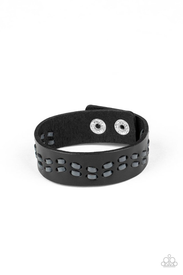 Leather Is My Favorite Color - Black - Paparazzi Bracelet Image