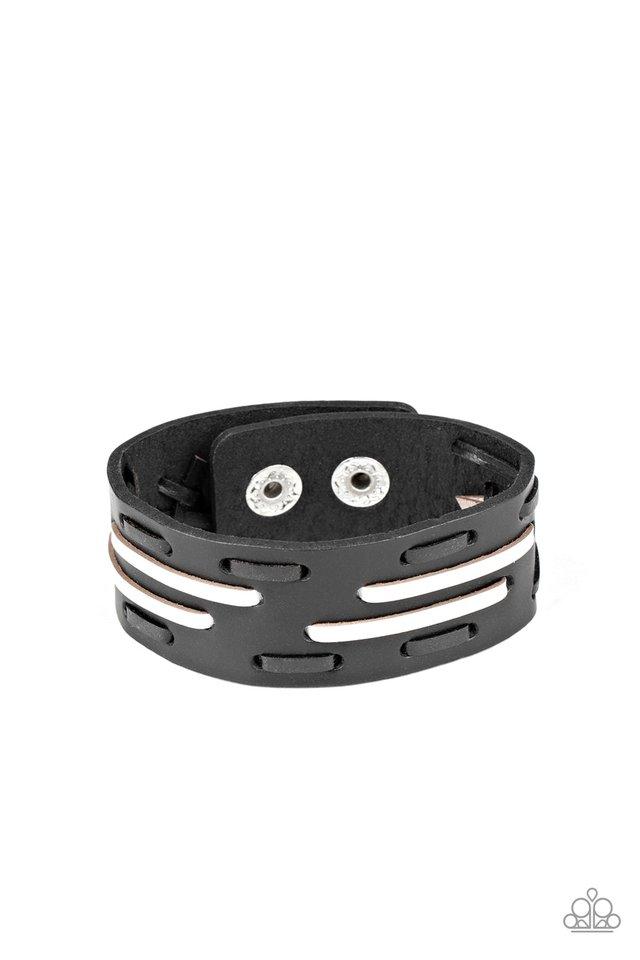 Cowboy Boot Camp - Black - Paparazzi Bracelet Image