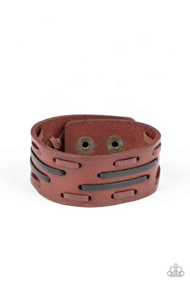 Cowboy Boot Camp - Brown - Paparazzi Bracelet Image