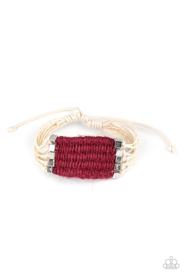 Beachology - Red - Paparazzi Bracelet Image