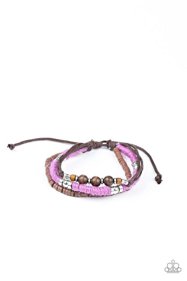 Totally Tiki - Purple - Paparazzi Bracelet Image