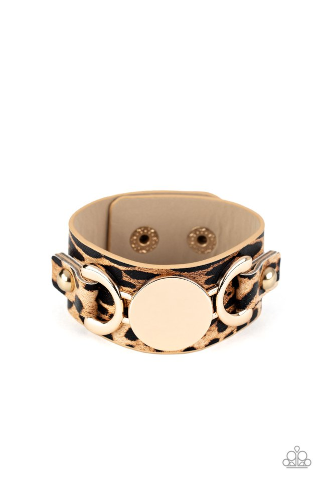 Your Claws are Showing - Gold - Paparazzi Bracelet Image