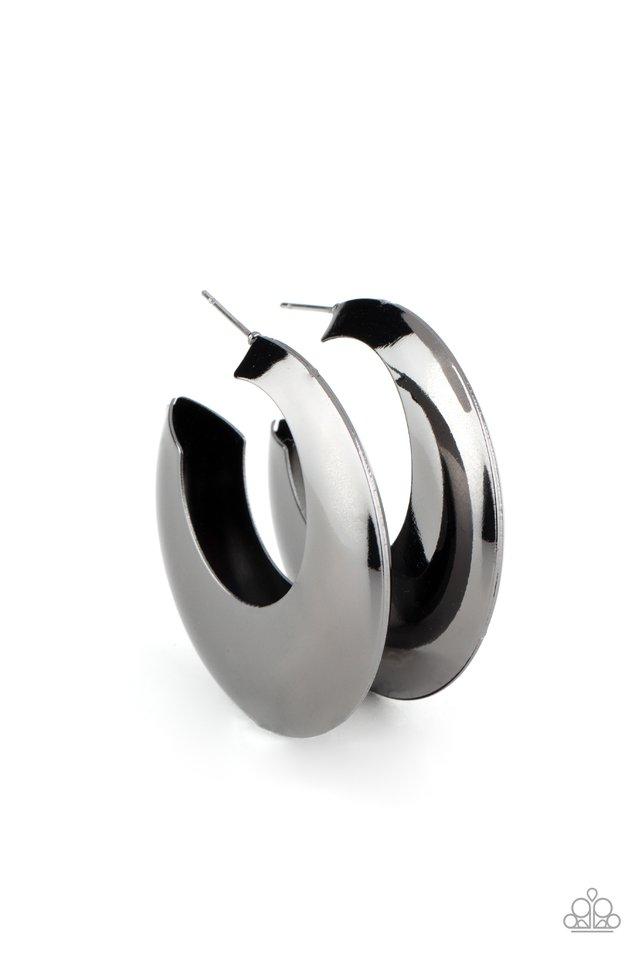 Chic CRESCENTO - Black - Paparazzi Earring Image
