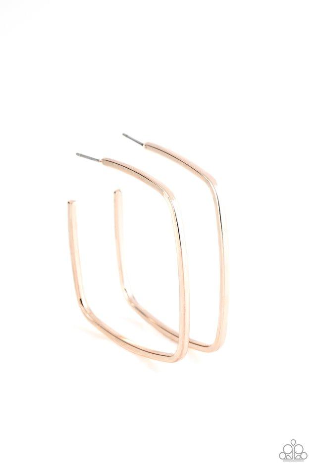 Brazen Beauty - Rose Gold - Paparazzi Earring Image