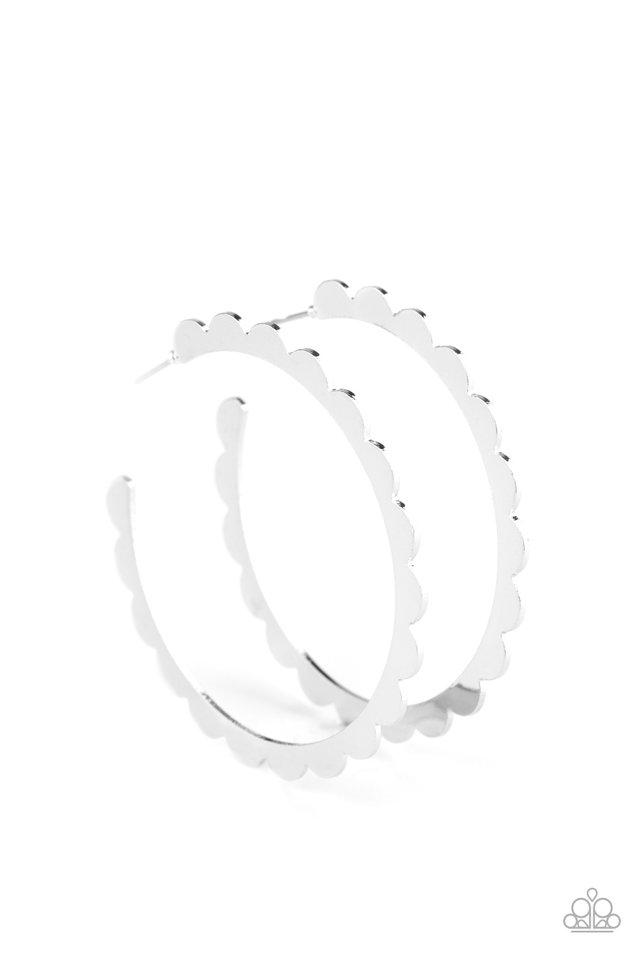 Radiant Ridges - Silver - Paparazzi Earring Image