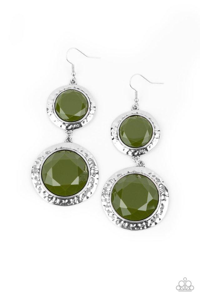 Thrift Shop Stop - Green - Paparazzi Earring Image