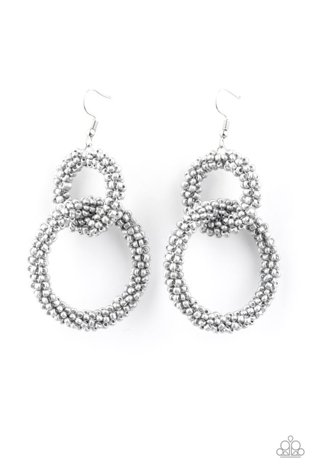 Luck BEAD a Lady - Silver - Paparazzi Earring Image