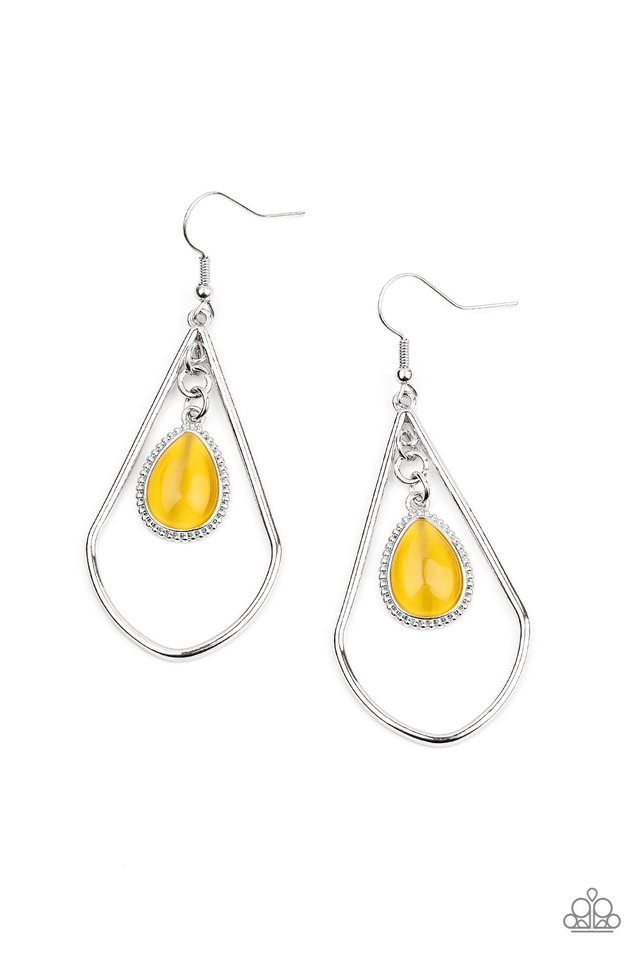 Ethereal Elegance - Yellow - Paparazzi Earring Image