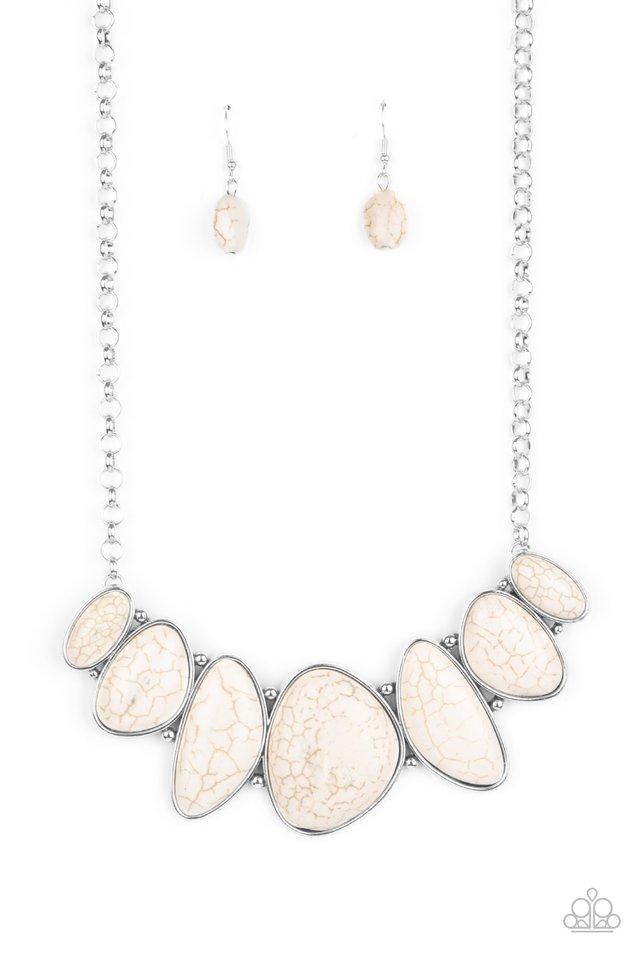 Primitive - White - Paparazzi Necklace Image