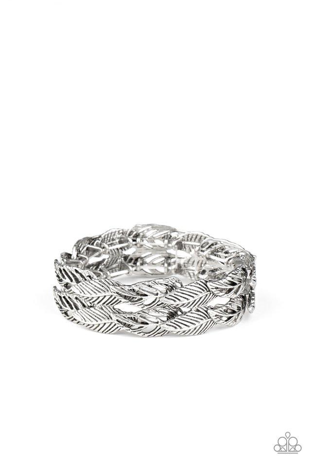 Its Five o FLOCK Somewhere - Silver - Paparazzi Bracelet Image
