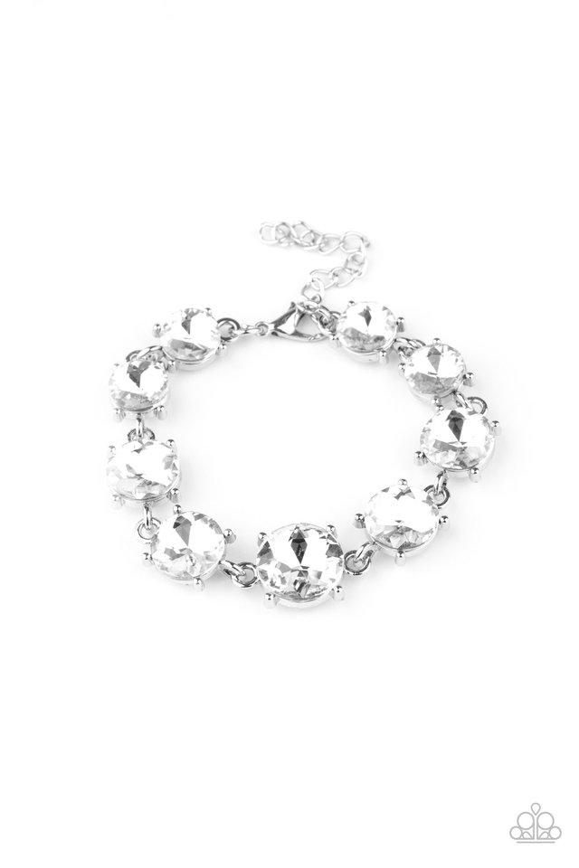 Cant Believe My ICE - White - Paparazzi Bracelet Image