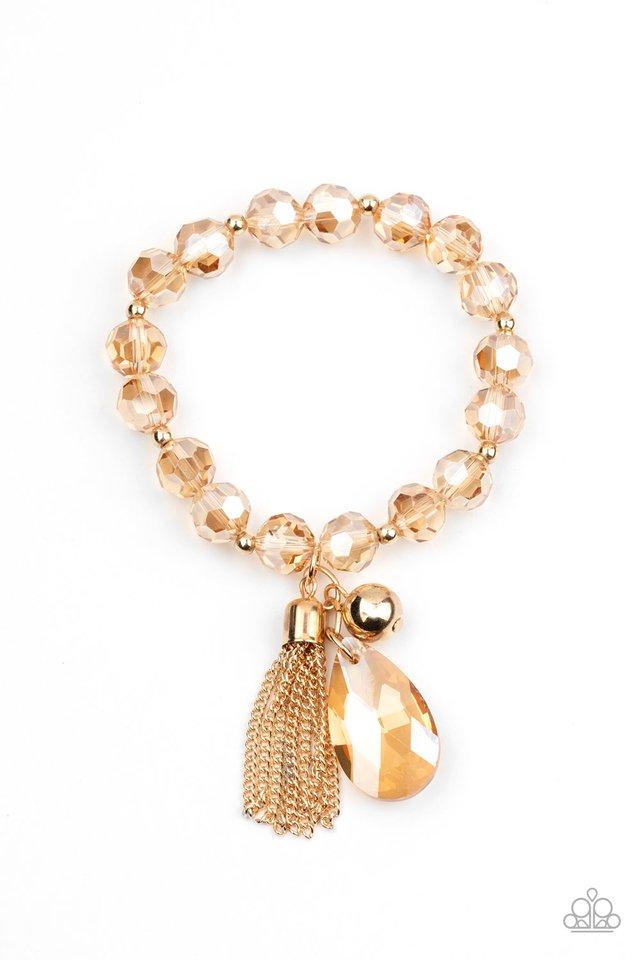Leaving So SWOON? - Gold - Paparazzi Bracelet Image