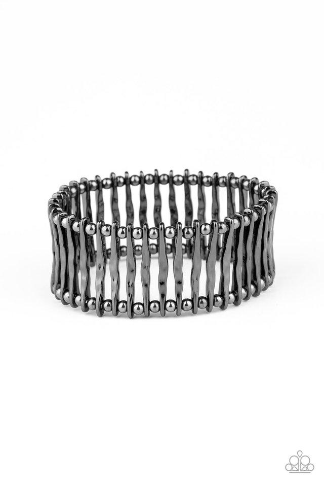 Rustic Rebellion - Black - Paparazzi Bracelet Image