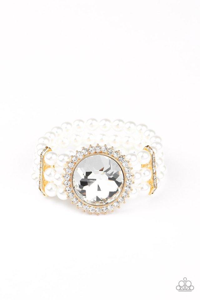 Speechless Sparkle - Gold - Paparazzi Bracelet Image