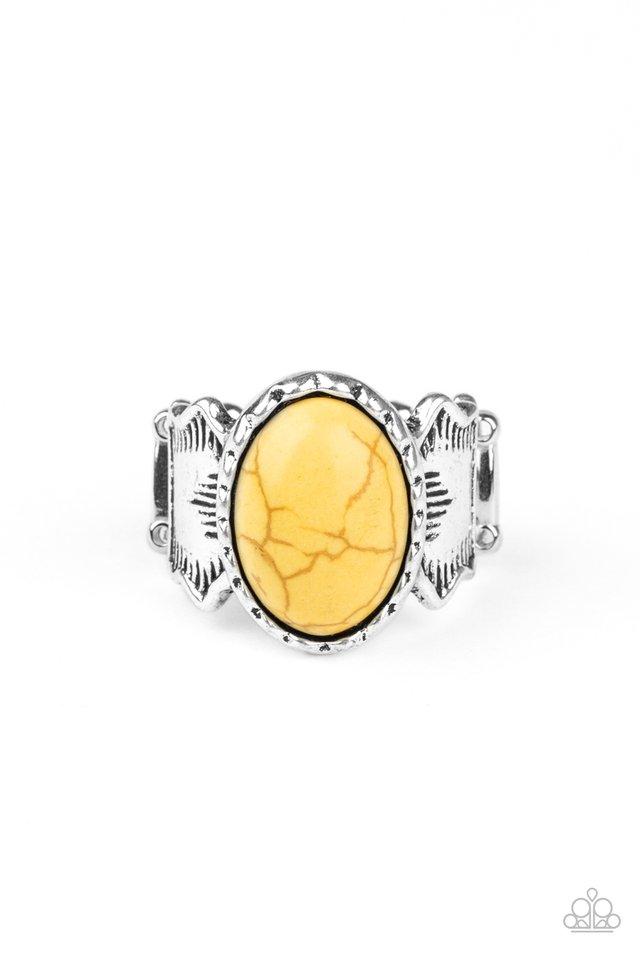 Aint No Mesa High Enough - Yellow - Paparazzi Ring Image