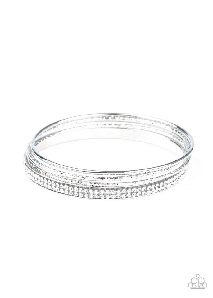 Heap It On - White - Paparazzi Bracelet Image