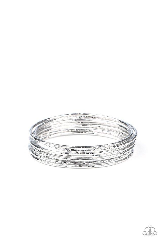 Thanks For GLISTENING - Silver - Paparazzi Bracelet Image