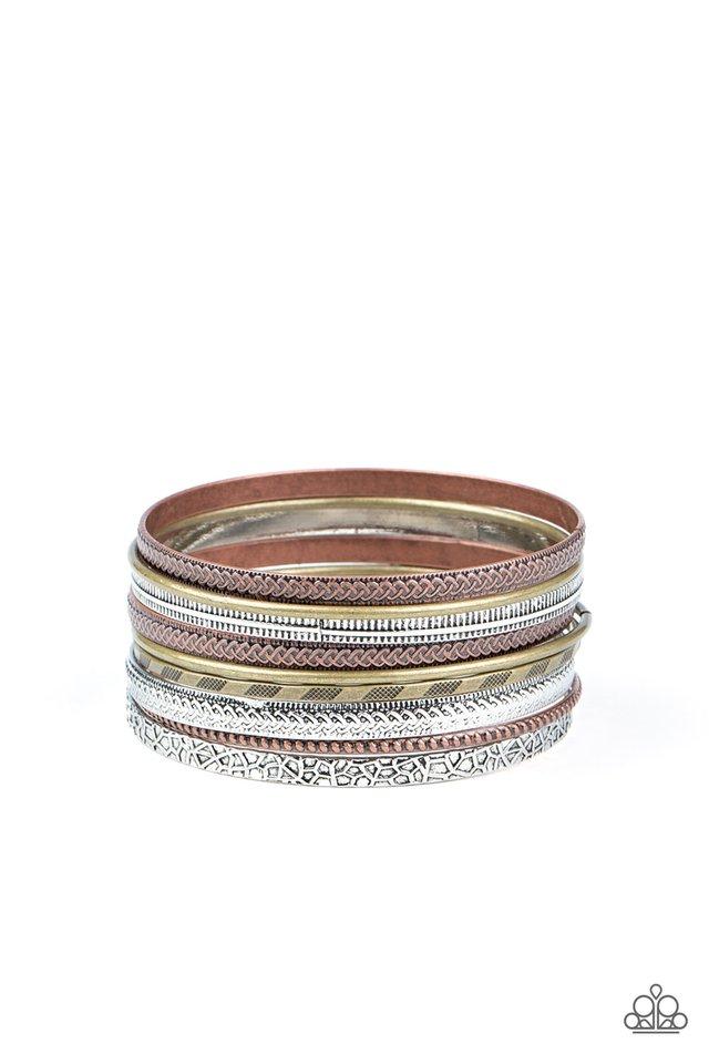 Relics On Repeat - Multi - Paparazzi Bracelet Image