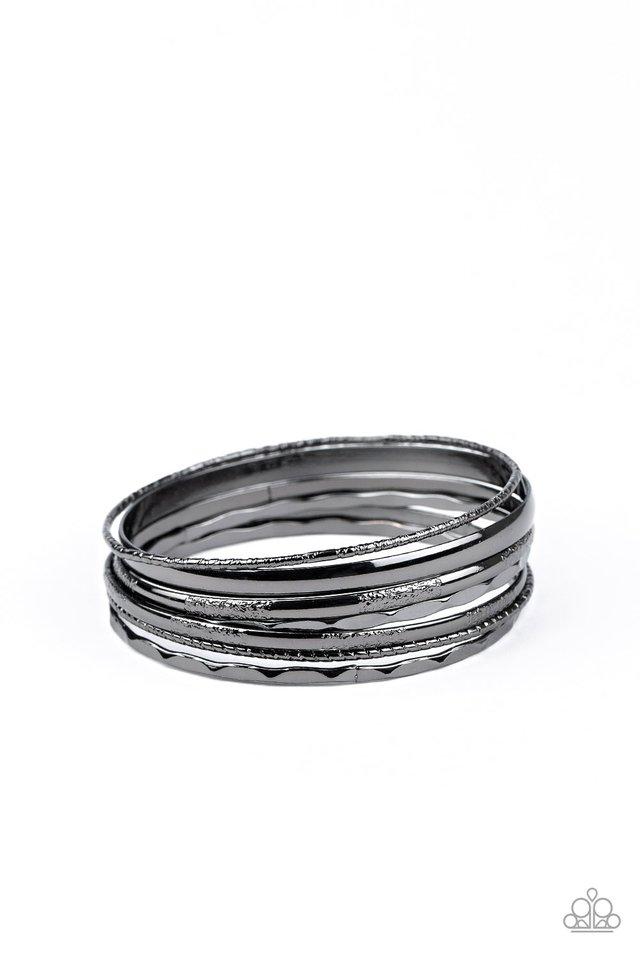 Top Of The Heap - Black - Paparazzi Bracelet Image