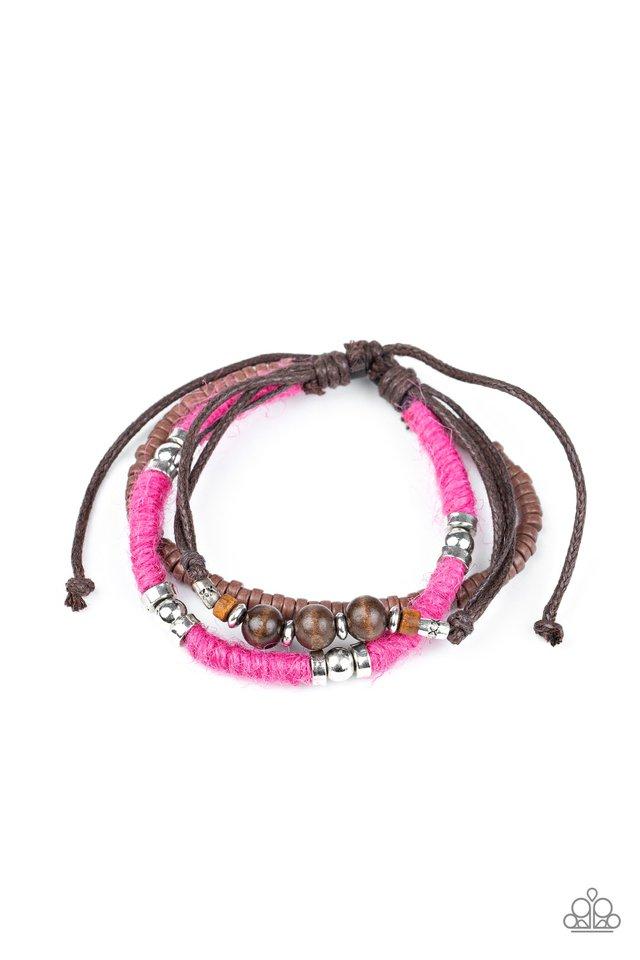 Totally Tiki - Pink - Paparazzi Bracelet Image