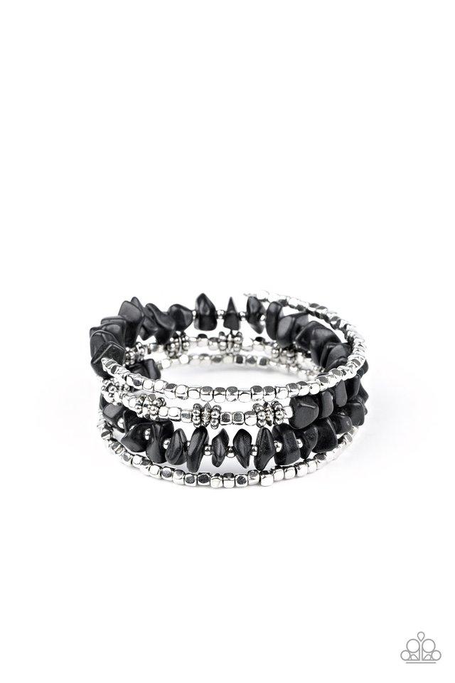 Rockin Renegade - Black - Paparazzi Bracelet Image