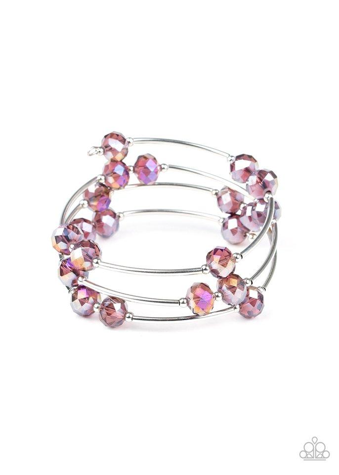Dreamy Demure - Purple - Paparazzi Bracelet Image
