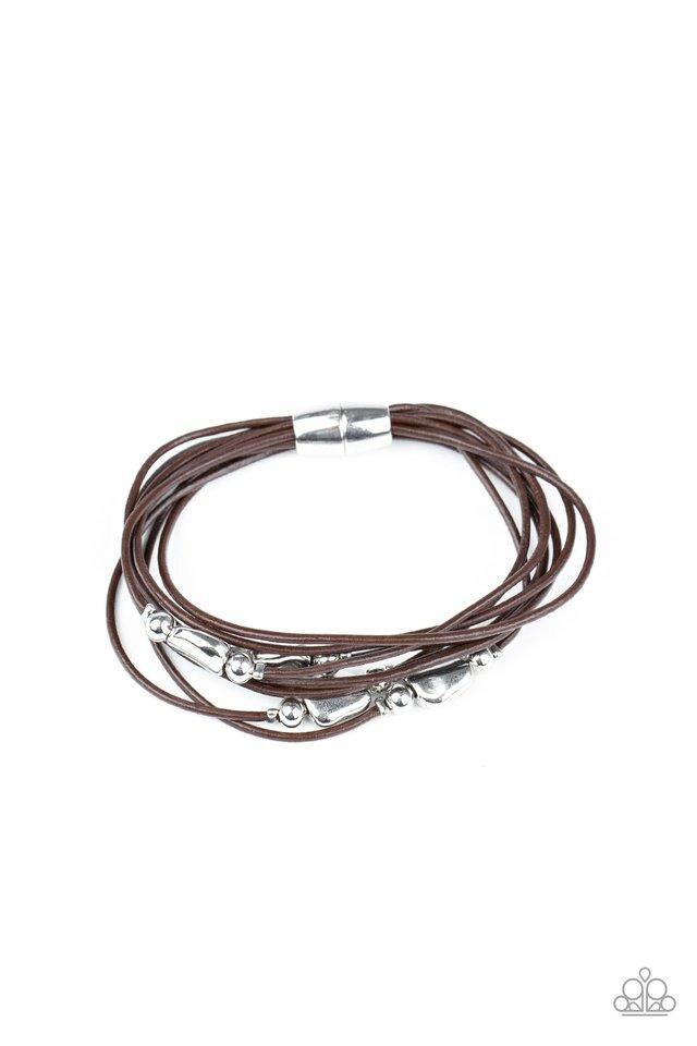 Raw Edge - Brown - Paparazzi Bracelet Image