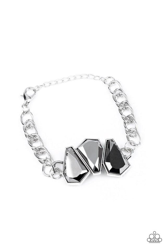 Raw Radiance - Silver - Paparazzi Bracelet Image