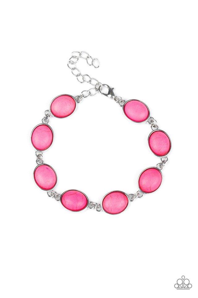Nice Stonework - Pink - Paparazzi Bracelet Image