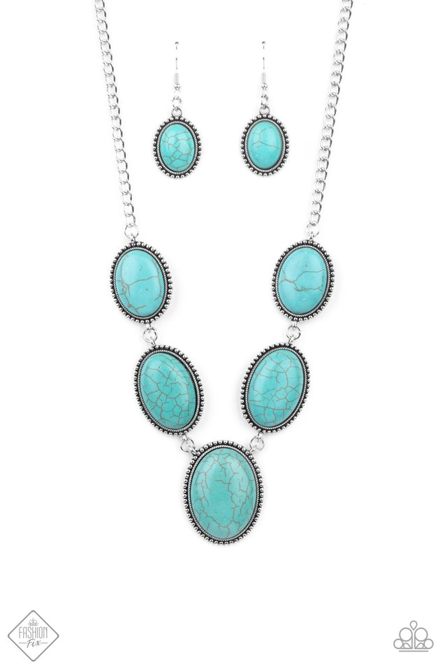 River Valley Radiance - Blue - Paparazzi Necklace Image