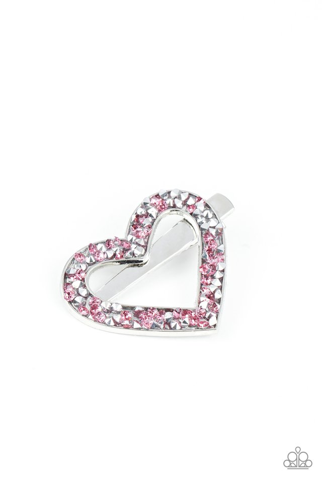 Love is a Battlefield - Pink - Paparazzi Hair Accessories Image