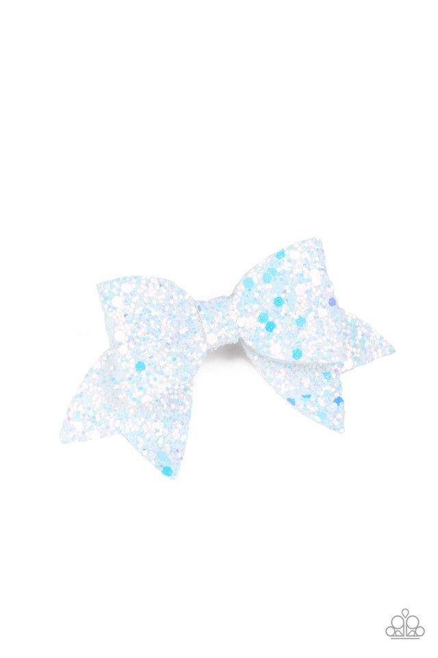 Confetti Princess - White - Paparazzi Hair Accessories Image