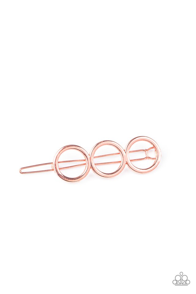 A HOLE Lot of Trouble - Copper - Paparazzi Hair Accessories Image