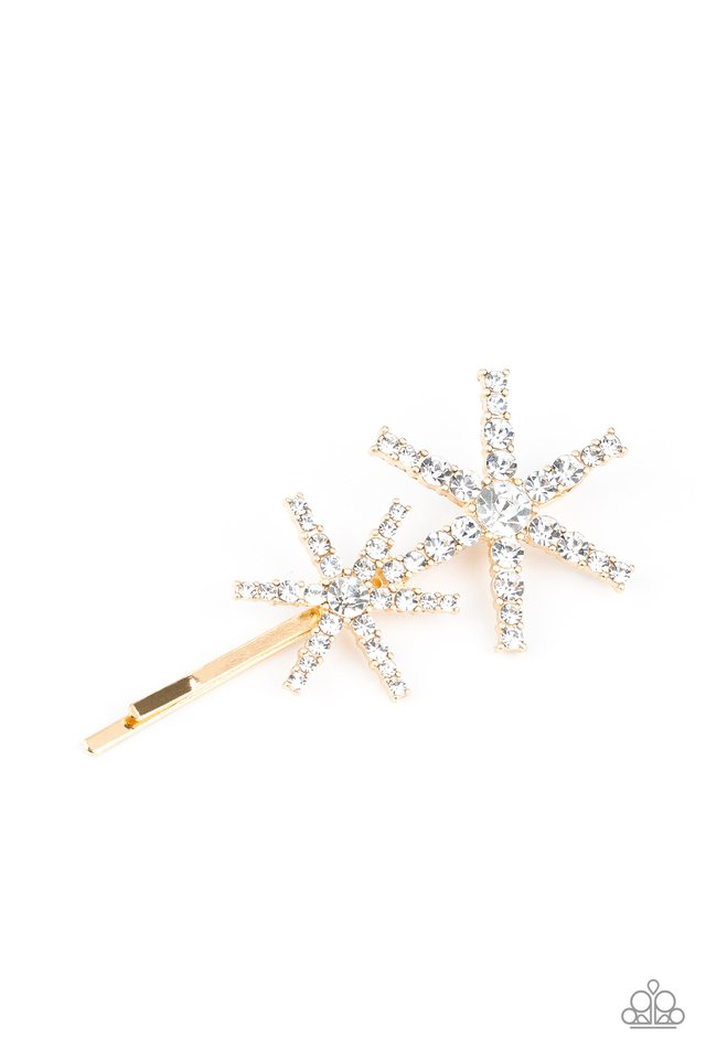 Megastar Minimalist - Gold - Paparazzi Hair Accessories Image