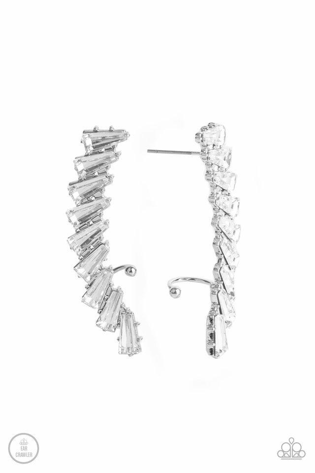 I Think ICE Can - White - Paparazzi Earring Image