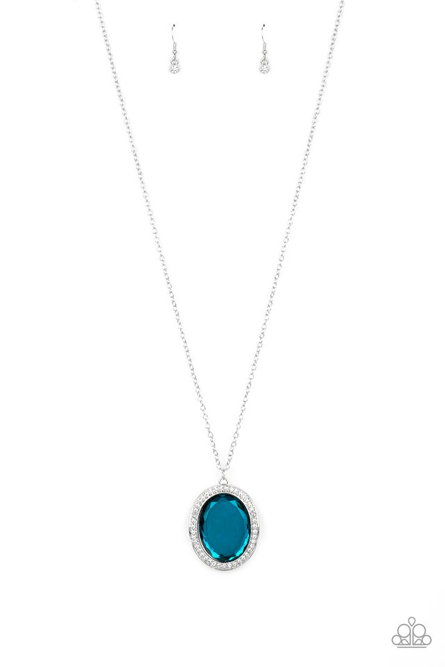 REIGN Them In - Blue - Paparazzi Necklace Image