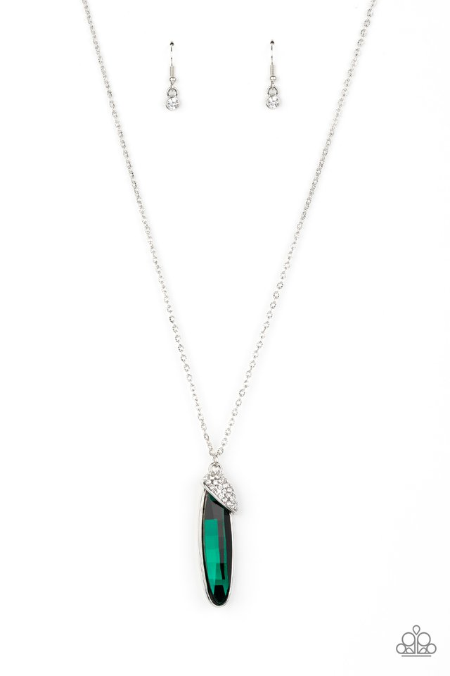 Spontaneous Sparkle - Green - Paparazzi Necklace Image