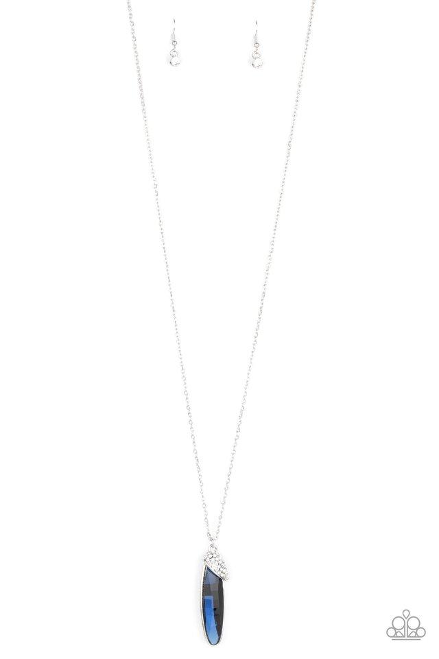 Spontaneous Sparkle - Blue - Paparazzi Necklace Image