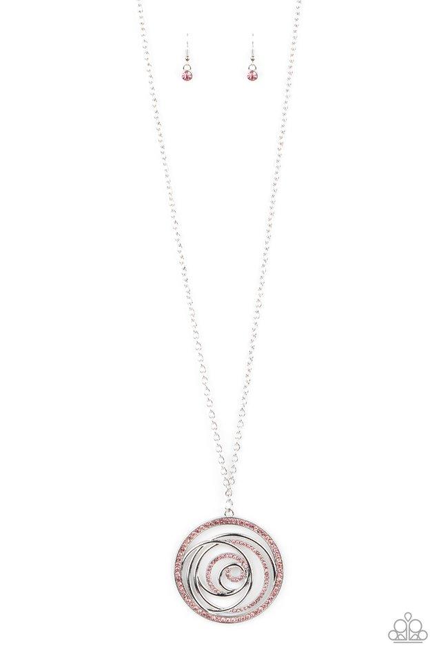 Subliminal Sparkle - Pink - Paparazzi Necklace Image