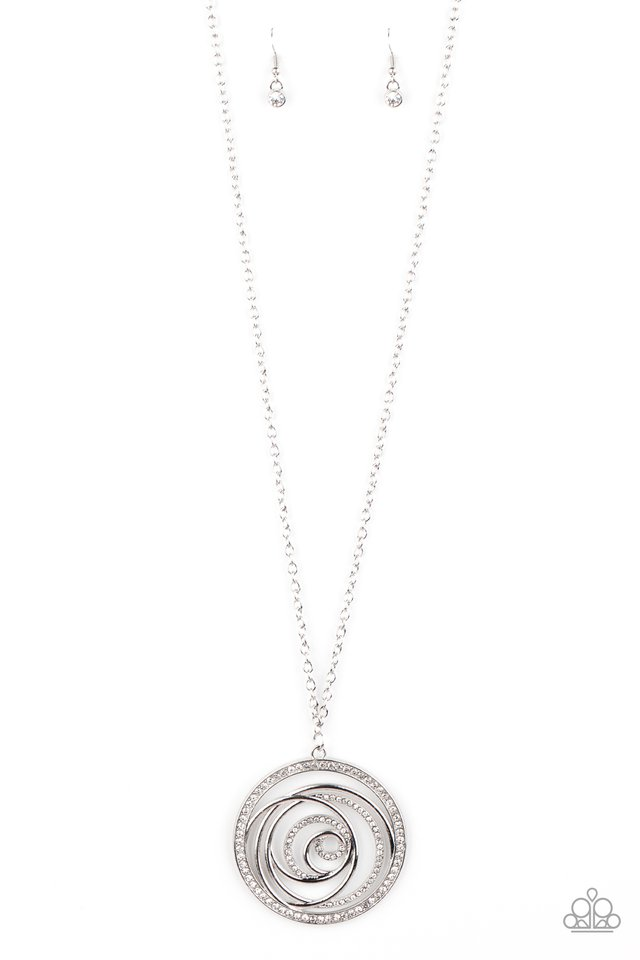 Subliminal Sparkle - White - Paparazzi Necklace Image