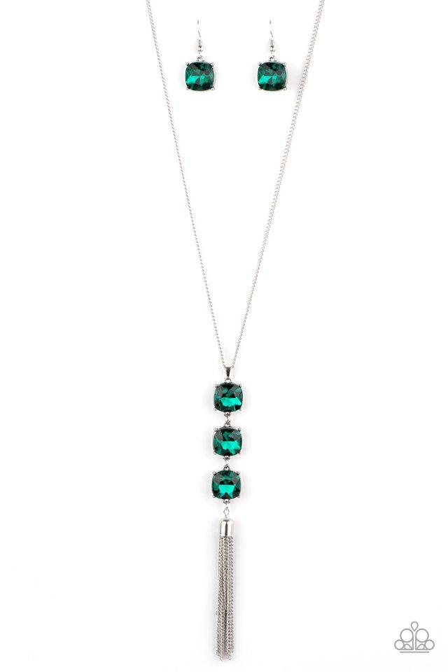 GLOW Me The Money! - Green - Paparazzi Necklace Image