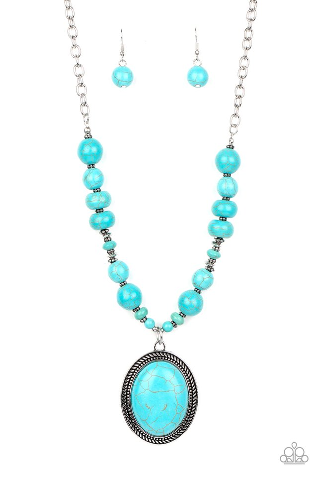 Home Sweet HOMESTEAD - Blue - Paparazzi Necklace Image