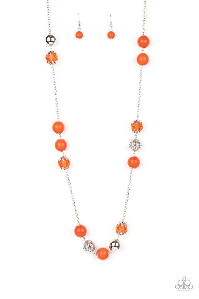 Fruity Fashion - Orange - Paparazzi Necklace Image