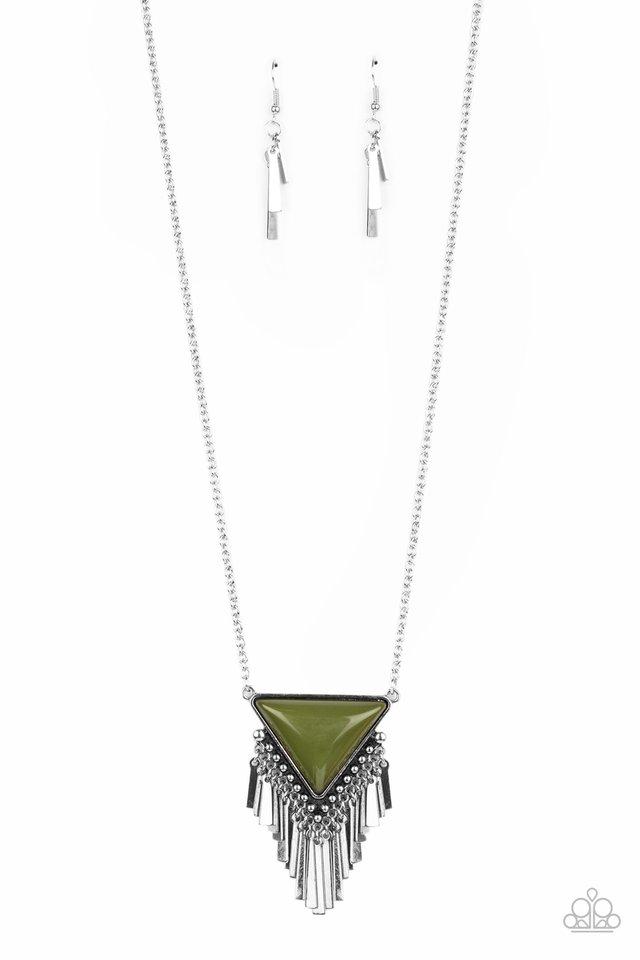 Badlands Bonanza - Green - Paparazzi Necklace Image