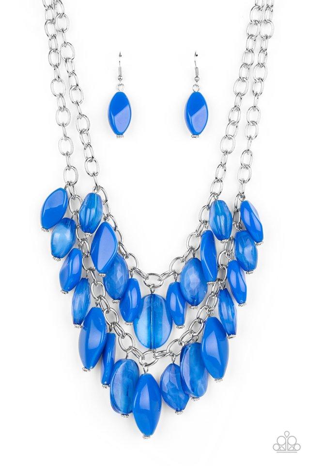Palm Beach Beauty - Blue - Paparazzi Necklace Image