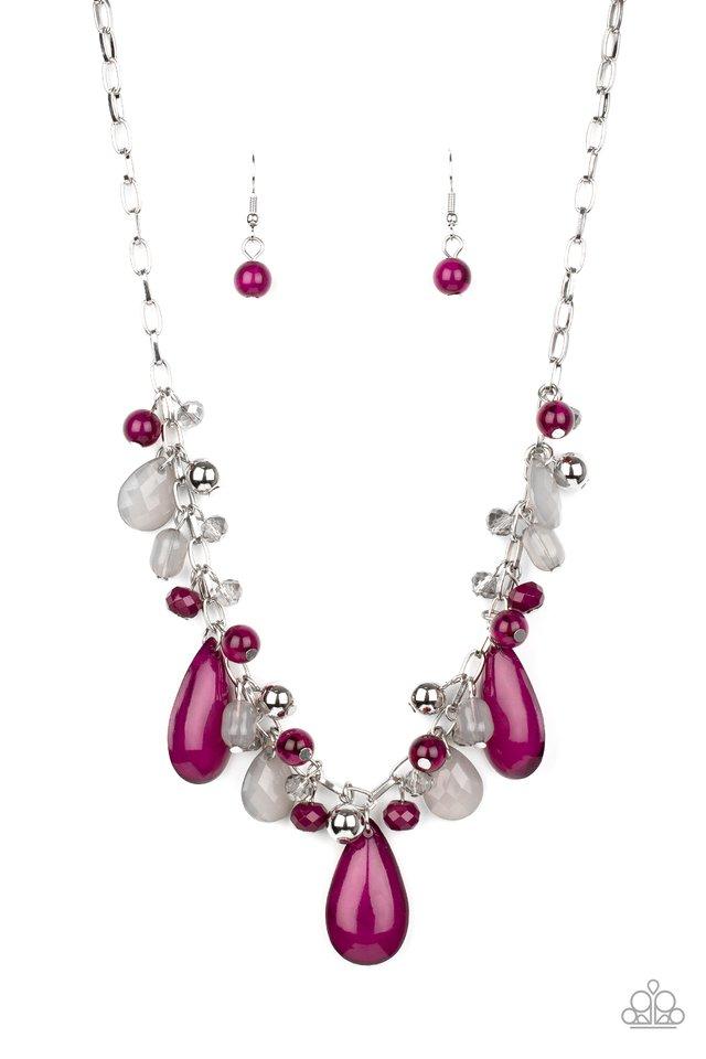 Seaside Solstice - Purple - Paparazzi Necklace Image