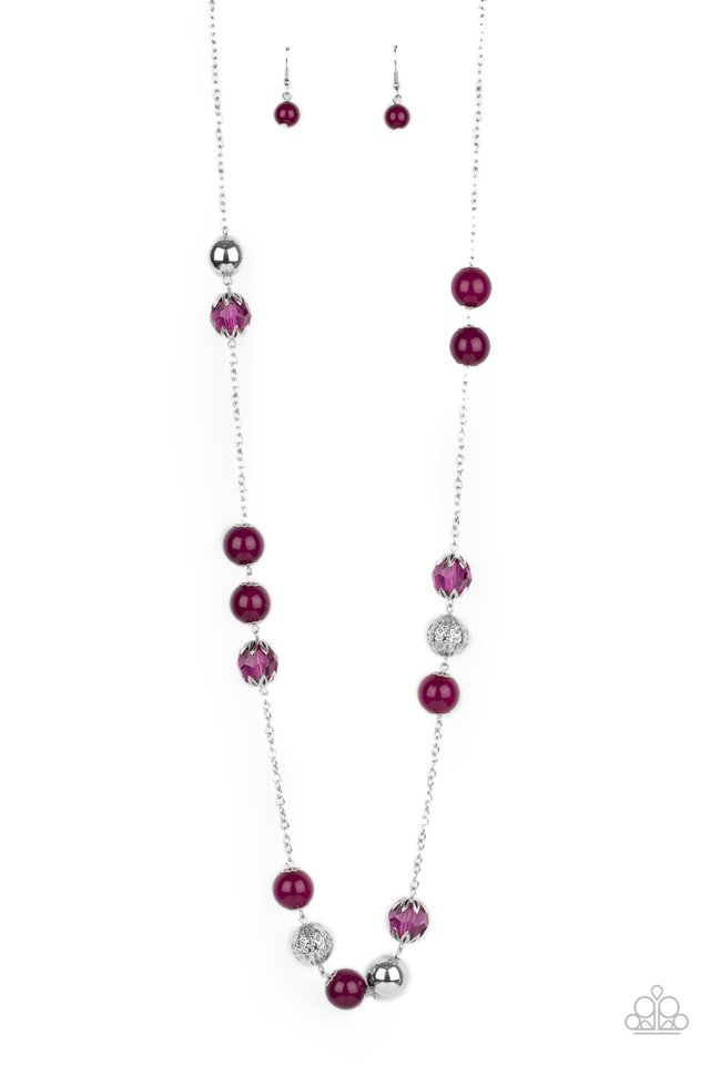 Fruity Fashion - Purple - Paparazzi Necklace Image